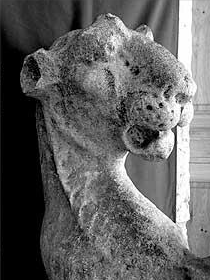 One of the Tudor 'kyng's beestes' that was found on a French camping site. Photo: Todd Longstaffe-Gowan, from Daily Telegraph, Sept 11 2009