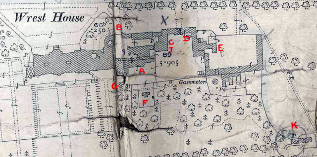 Wrest Park House annotated by the valuer in 1927  Bedfordshire County Council