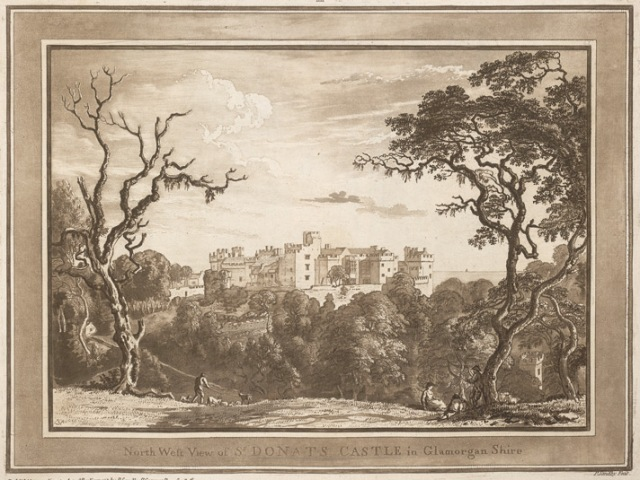 North West View of St. Donat's Castle, Paul Sandby, 1775, British Library
