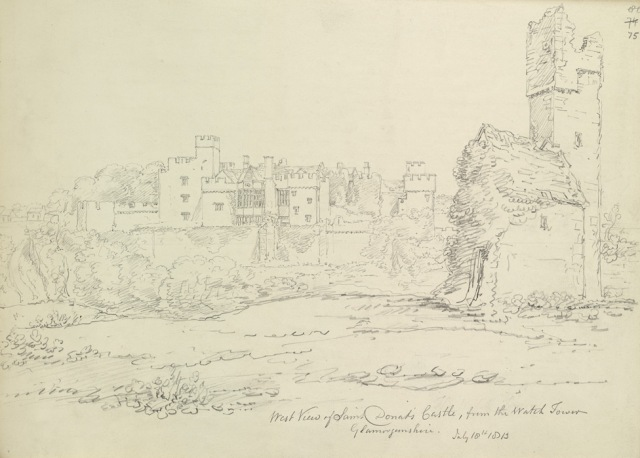 St Donat's Castle, John Buckler  1815, British Library