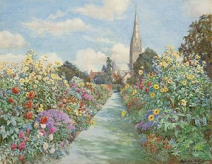 The herbaceous border, The Canonry, Salisbury Cathedral
