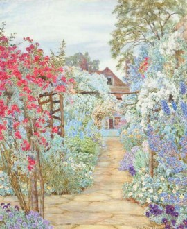 A Cottage Garden in Full Bloom