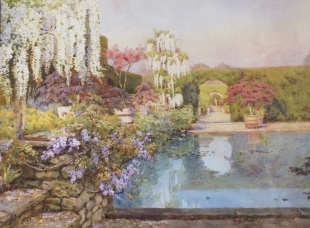 Th ereflecting pool by Edith Adie, c.1923 National Trust