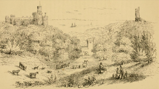 "From Thirteen Views of the Castle of St Donat's"", 1871 https://archive.org/stream/thirteenviewsofc00clar#page/2/mode/2up"