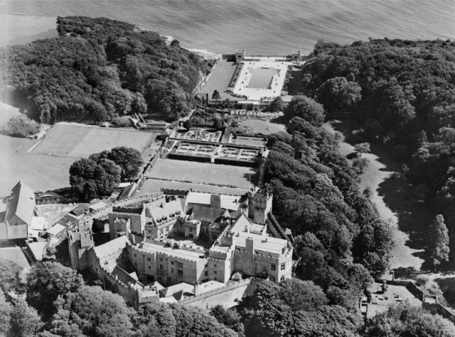 Aerial view of St Donats Castle , 1934
