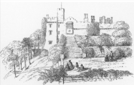 "The steps bewteen the upper terraces From Thirteen Views of the Castle of St Donat's"", 1871"