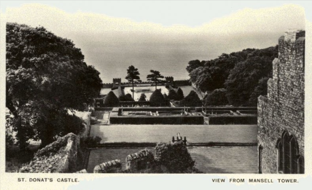 The view from Mansell Tower, 1926, from  the Peter Davis Collection at Parks and Gardens UK.