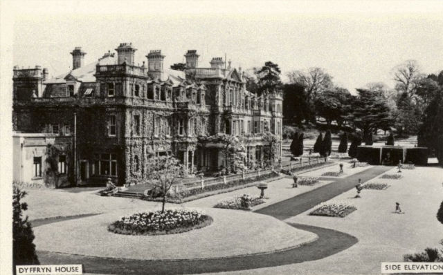 The South Front of Dyffryn, 1957, the Peter Davis Collection at Parks and Gardens UK