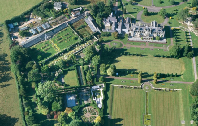 RCAHMW colour slide oblique aerial photograph of Dyffryn House,  Toby Driver, 2000