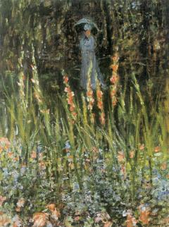 The Garden, Gladioli, 1876 Claude Monet