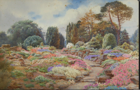 The Rock Garden at Castle Archdale, 1895
