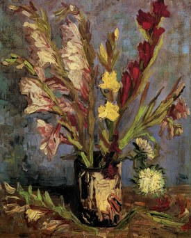 Vase with gladioli, Vincent Van Gogh, 1886 Van Gogh Museum, Amsterdam