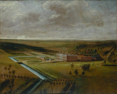Thoresby Hall, Nottinghamshire, Leonard Knyff, c.1705 Government Art Collection