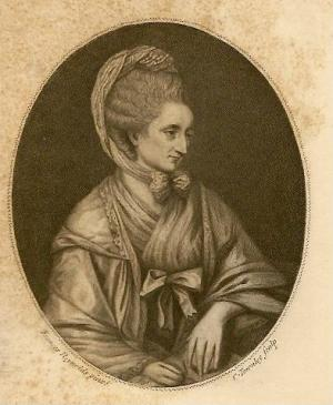 The young Elizabeth Montagu, as a shepherdess by Frances Reynolds, engraved by C. Townley