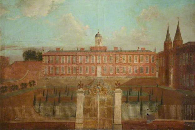 Knowsley Hall unknown artist, c.1730, Astley Hall Museum and Art Gallery
