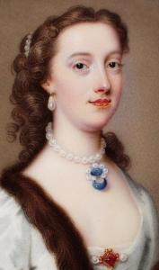 Margaret Cavendish Bentinck, [nee Harley] Duchess of Portland by Christian Friedrich Zincke, 1738