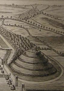 "William Stukeley's 1723 image of Marlborough ""Mount"""