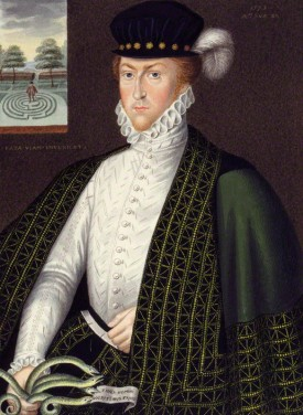 Lord Edward Russell, grandson of the first Earl of Bedford, by George Perfect Harding, after Unknown artist, (1573) National Portrait Gallery