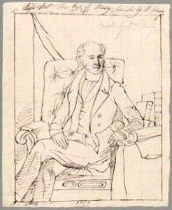 Edward Smith Stanley, 13th Earl of Derby by Alfred Thomas Derby, after William Derby pencil, pen and ink, 1839 (1837), National Portrait Gallery