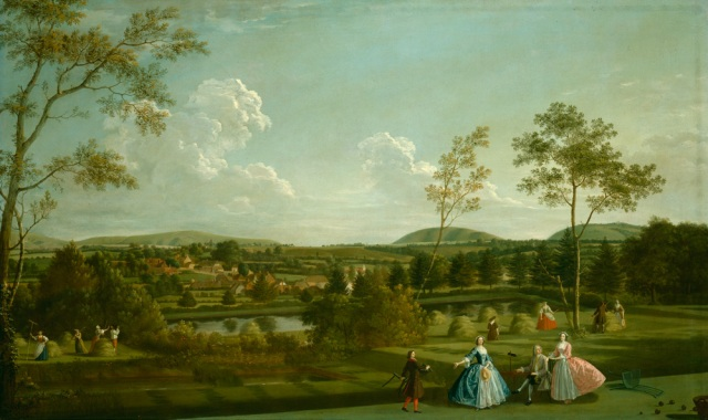 The Montagu Family at Sandleford Priory (Berkshire), by Edward Haytley, 1744. Private collection, image courtesy of Lowell Libson Ltd.