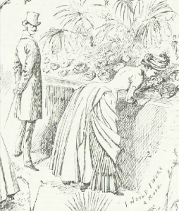 """I would I were a rose"" from A Summer Rose Show, Illustrated London News, 23rd June 1884"