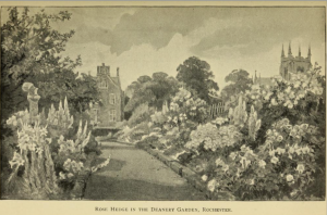 The Deanery Gardens at Rochester from A book about Roses (15th edition 1897)