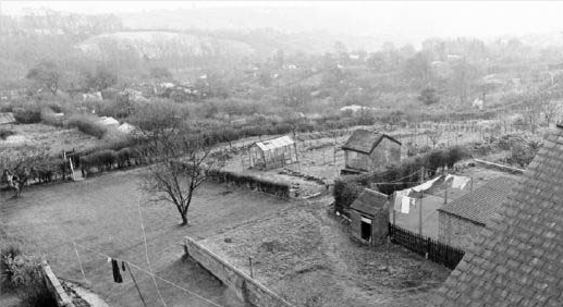 Hungerhill Gardens, St Ann's - Looking from Alexandra Park, photo by J. Snowden, 1974 fromhttp://www.picturethepast.org.uk