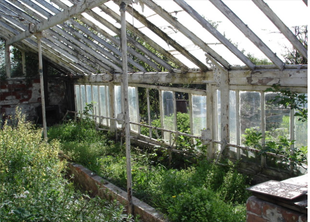 Ruins of a 1930s glasshouse  http://www.staa-allotments.org.uk
