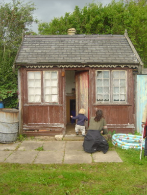 The only listed building on the St Anns site is this Victroian flat-pack summerhouse http://www.staa-allotments.org.uk