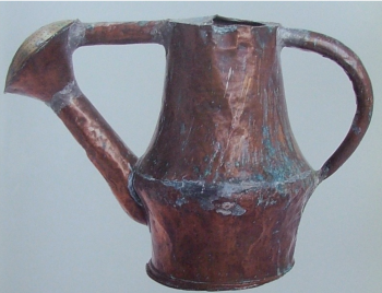 Copper watering pot 16thc, Museum of London