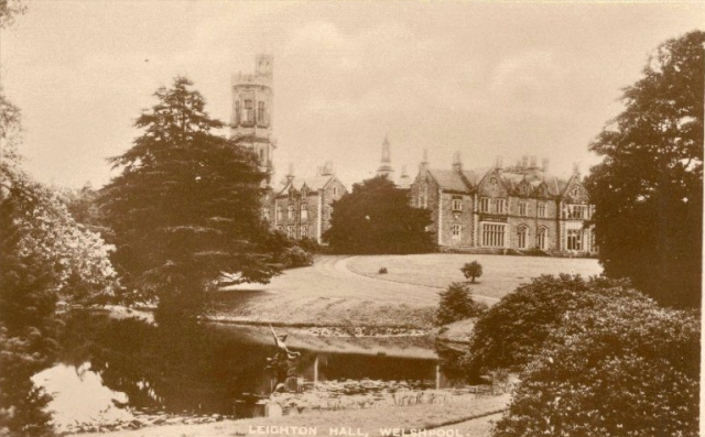 Leighton Hall, from  the Peter Davis Collection at Parks and Gardens UK.