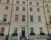 The Montagus' house in Hill Street, Mayfair now a lawyers office Google Streetview