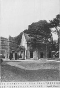 Mrs Montagu'''''s new dining room and reformed chapel from a typescript History of Sandleford Priory, West Berkshire Record Office