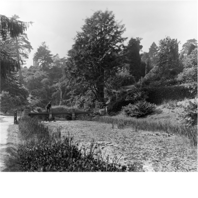 The cascade and lake at Alton Towers. Country LIfe, 18th June1898