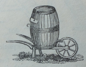 The water wheelbarrow from Loudon's Encyclopedia of Gardening, 1838 edition