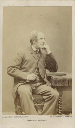 Edward William Cooke by John & Charles Watkins albumen carte-de-visite, mid-late 1860s, National Portrait Gallery