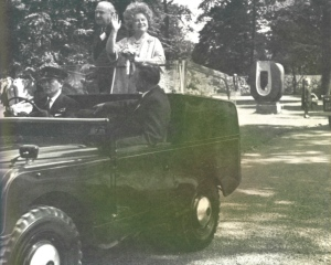 The Queen Mother at the opening of Syon Park Garden Centre, from My Lifetime in Gardening