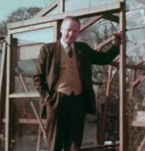still from an early edition of Gardeners World filmed at The Magnolias, BBC