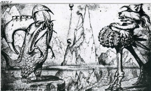 Plate 10 from Entwicklungsgeschichte—grotesque animals (1872)