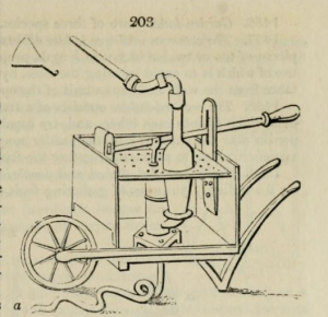 The barrow watering engine from Loudon's Encyclopedia of Gardening, 1827 edition