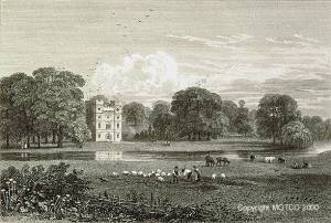 The remaining Tower of Cardinal Wolsey's Palace at Esher.  Engraved by George Cooke from Cooke's Views in London and its Vicinity (1826-34)1827