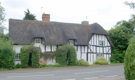 Thatched Cottage. The house that Nichols bought in 1928 in the village of Glatton