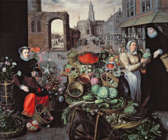 Vegetable and Flower Market by Arnout de Muyser, Museo  Gallerie Nazionale di Capodimonte