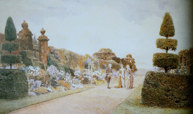 The Herbaceous Border at Arley from George Samuel Elgood,, by Eve Eckstein