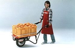 The Nekomaru HPE60 electric power-assisted wheelbarrow, http://world.honda.com