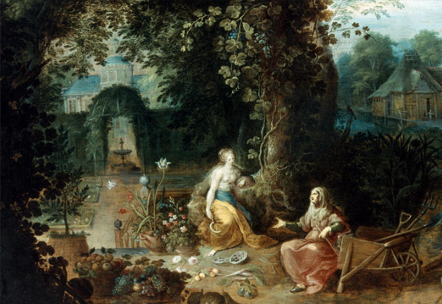 Frans Francken the Younger. Vertumnus and Pomona.