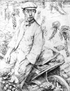 Gardener and Tortoise, Herbert Freeth, Garden Museum
