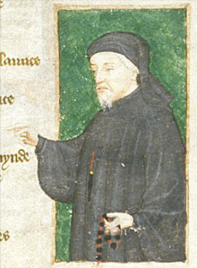 Chaucer  from Britsih LibraryHarley 4866 f.88, early c.15th