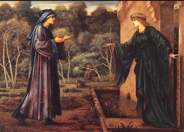 Pilgrim at the Gate of Idleness, Burne-Jones, 1884 Leicestergallery.com