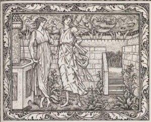 Beauty and Riches in the Garden of Pleasure, Drawings by Burne Jone's from Chaucer's Romaunt of the Rose, printed by William Morris at the Kelmscott Press, 1896